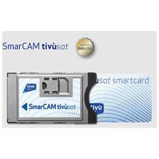 CAM Tivùsat + Tessera Tivùsat. Utilizzabile su tutti i decoder e TV predisposti al segnale satellitare