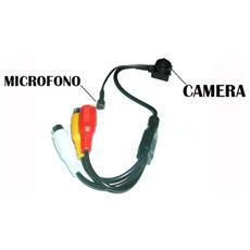 Telecamera Micro Spia A Colori Con Microfono Dc / 2rca