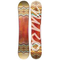 Tavola Snowboard Donna Spell Flat-out Arancio Giallo 142