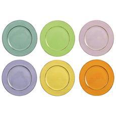 Cascina Light Sottopiatto Listo Tondo In Sei Colori, Multicolore, Set Da 6 Pezzi