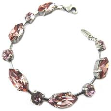 fatti a mano bracciale 'tsarine' luce vecchia rosa ametista - [ p0932]