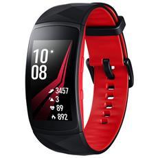 Smartwatch Gear Fit 2 Pro Impermeabile 5ATM con GPS Integrato e Monitoraggio Battito Cardiaco Taglia L Colore Nero / Rosso - Italia