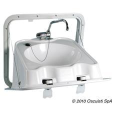 Lavello in ABS pieghevole a parete