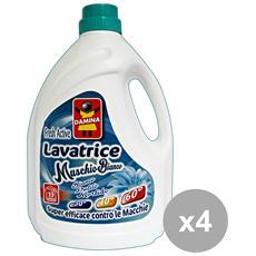Set 4 Lavatrice Liquido 45 Mis= 3 Lt. Muschio Bianco Detergenti Casa