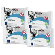 Salviette Detergenti Antiparassitarie All'olio Di Neem Per Cani E Gatti 4 Confezioni