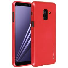 Cover Galaxy A8 Cover Soft Touch Metallizzata Ijelly Goospery - Rossa