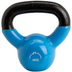 Pesi in ghisa 4 kg con maniglia kettlebell manubrio palestra fitness training