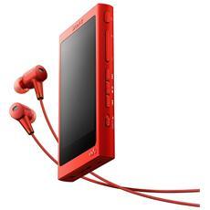 Lettore MP3 16GB con Cuffie Rosso