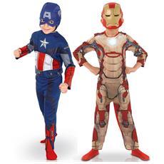Pacchetto Di Travestimenti Da Captain America Et Iron Man Per Bimbo 3 A 4 Anni