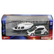 DieCast 1:43 Spain Forze dell'ordine Auto + Elicottero modello 1 57009