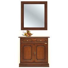 Credenzina con specchio massello - L 84 cm
