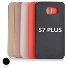 Custodia Protettiva Nera Ruvida Samsung S7 Plus Wimitech