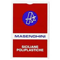 51060 - Siciliane 15 Carte Da Gioco, Astucio Rosso