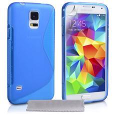Cover Custodia Sline Silicone Tpu - Blu - Samsung Galaxy S5