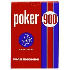 51072 - Poker 900 Carte Da Gioco, Astucio Rosso
