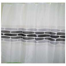 Tenda Doccia in Poliestere impermeabile 180X200 SASSI GRIGI MAURER con ganci