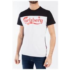 T-shirt Uomo Raglan Bicolore S Nero Bianco
