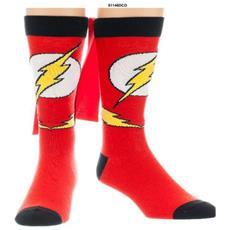 The Flash - Logo Sock With Cape Calzini