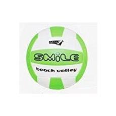 Pallone Verde E Bianco Da Beach Volley Pallavolo Spiaggia Mare Gonfiabile Smile