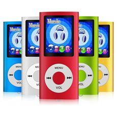 Lettore Mp3 Design Moderno Vari Colori Video Audio Foto Radio Fm, cuffia E Cavo Inclusi