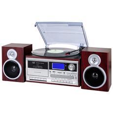 Giradischi Stereo Bluetooth Con Encoding Tt 1070 E Legno Scuro