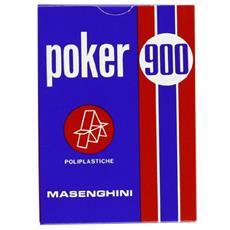 51073 - Poker 900 Carte Da Gioco, astucio Blu