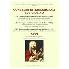 Convegni internazionali sul violino