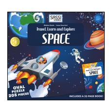 Space. Travel, learn and explore. Libro puzzle