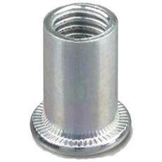 Inserto cilindrico in acciaio T. C. 1°G. M6x14,5mm. - 250pz.