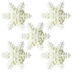 5 Mini Fiocchi Di Neve Di Zucchero Per Natale Taglia Unica
