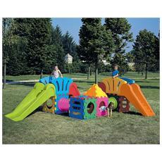 Cubo modello g2000 cubic toy gioco componibile modulare scivolo per bambini