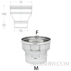 Aumento Inox Per Canna Fumaria Da M Ø 80-130
