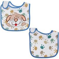 Bavaglino Fantasia Con Gattino / cagnolino Per Bambina / bambino (taglia Unica) (bianco / blu (cane))