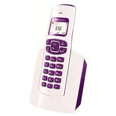 D150 W-PR Telefono Cordless DECT (White Purple)