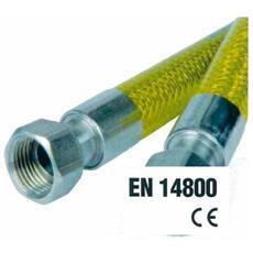 """Tubo Flessibile Omologato Per Gas Domestici Cm 150 Mf 1/2"""""""" - 0027mf"""