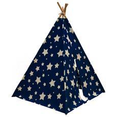 Tenda Teepee Cosmo Brilla Al Buio Blu E Bianca C052.102.01