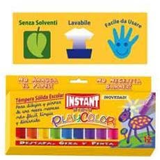 tempera solida playcolor 12 colori in stick da 10gr