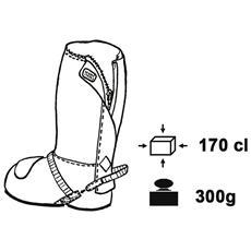 Copriscarpe antipioggia Nano con lampo 718 46-47 Nero
