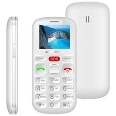 "Sileno30n Bianco Display 1.77"" +Slot MicroSD per Anziani con Tasti Grandi e Tasto Sos"