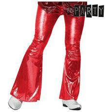 Pantalone Per Adulti Th3 Party Disco Brillante Rosso Xs / s