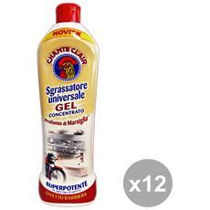 Set 12 Sgrassatore Gel Concentrato Marsiglia 450 Ml. Detergent