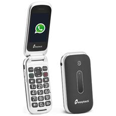 "T710 Cellulare Senior Colore Nero Whatsapp Wi-Fi 3G Chiusura Flip Bluetooth SOS Dual Sim Display 2.4"""