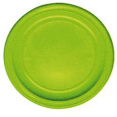 conf. 30 Piatti piani verde acido 11178