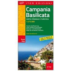 Campania e Basilicata. Carta stradale e turistica 1:275.000. Ediz. multilingue