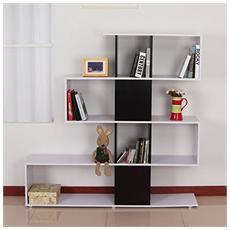 Libreria di design in legno 145x30x145cm Mobili ufficio scaffale