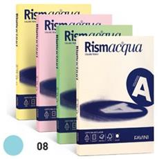 conf. 100 Carta colorata 90g Rismacqua celeste A69T144