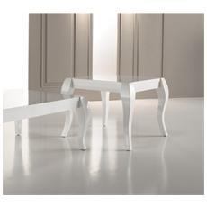 Tavolino Da Pranzo Realizzato In Legno Laccato Bianco Shining Om / 097 / l