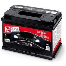 Batteria Auto - Accumulatore 12v 80 Ah   Pronta All'uso