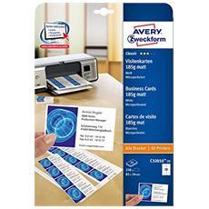 C32010-25 Laser / Inkjet Cartoncino Bianco biglietto da visita