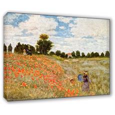 Quadro Su Tela Il Meglio Dell'arte Misura 50x70 Cm I Papaveri - Monet